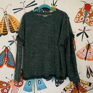 Knox Rose Green Boho Sweater